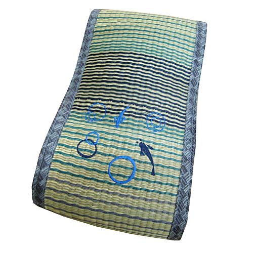 コーナン オリジナル い草低反発フィットクッション 熊野 ブルー 約38×20cm