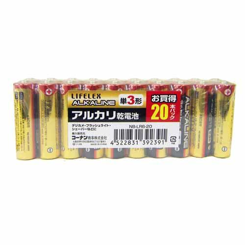 コーナン オリジナル アルカリ乾電池 単3×20本 NB−LR6−20