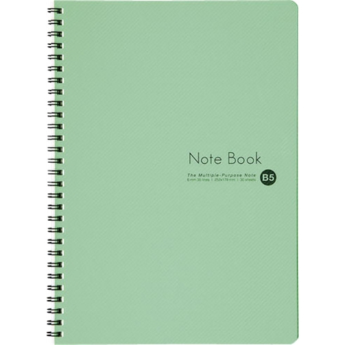 コーナン オリジナル リングノートPPカバーB5 B罫 30枚 グリーン