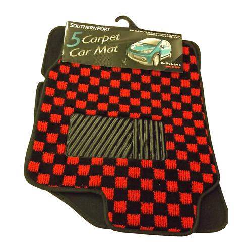 コーナン オリジナル カーマットセット 11HK−279RD コンパクトカー用 レッド