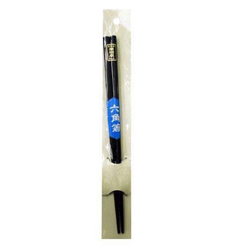 コーナン オリジナル 六角箸 黒檀風仕上げ KHM05−3872