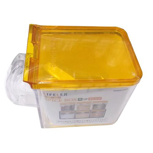 コーナン オリジナル 調味料入れ オレンジ 角 1P KHM05−3703