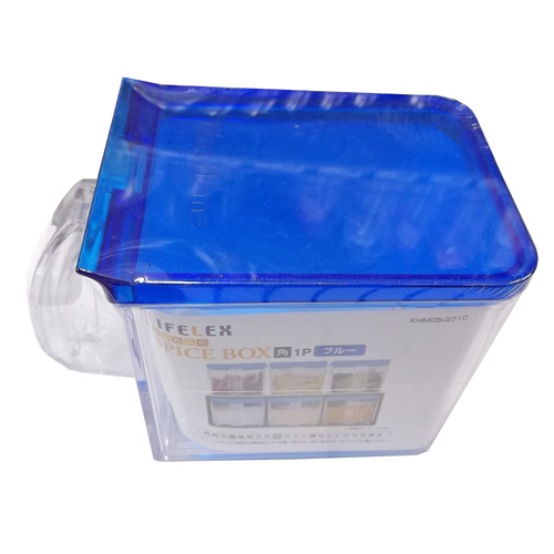 コーナン オリジナル 調味料入れ ブルー 角 1P KHM05−3710