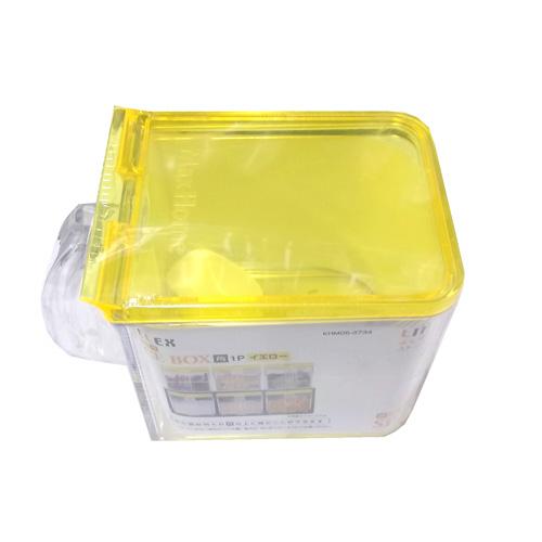 コーナン オリジナル 調味料入れ イエロー 角 1P KHM05−3734