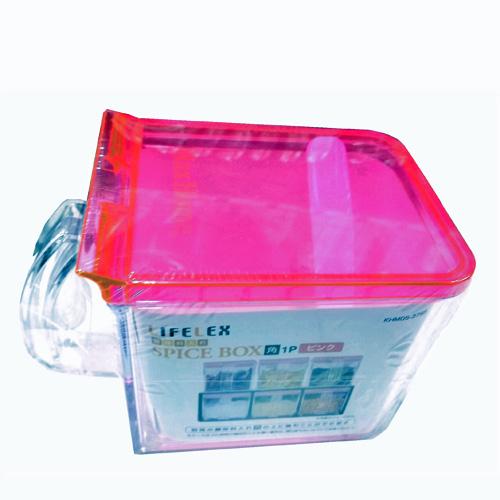 コーナン オリジナル 調味料入れ ピンク 角 1P KHM05−3765