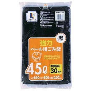 コーナン オリジナル 強力ゴミ袋 黒 45L 30枚入 KOK05−6789