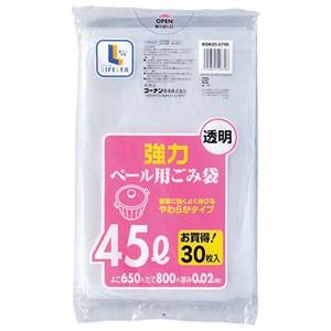コーナン オリジナル 強力ゴミ袋 透明45L 30枚 KOK05−6796