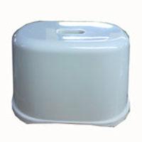コーナン オリジナル 風呂いす 角型クリアホワイト KOK21−8423