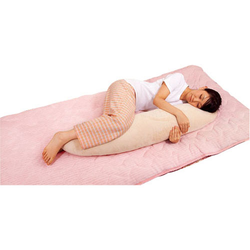 コーナン オリジナル 抱き枕 約32×140cm ベージュ