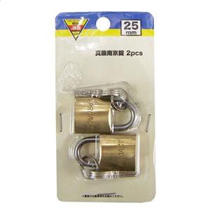 ◇ コーナン オリジナル 真鍮南京錠 2pcs 25mm EKM03−0708