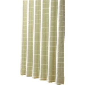 コーナン オリジナル 遮光性カーテン 「チェック」 グリーン 2枚組 約幅100×丈135cm