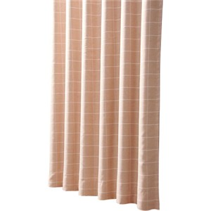 コーナン オリジナル 遮光性カーテン 「チェック」 ベージュ 2枚組 約幅100×丈200cm