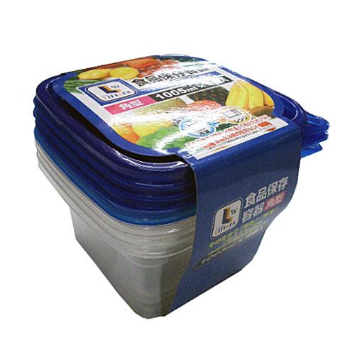 コーナン オリジナル 食品保存容器 角型 1005ml×4個入