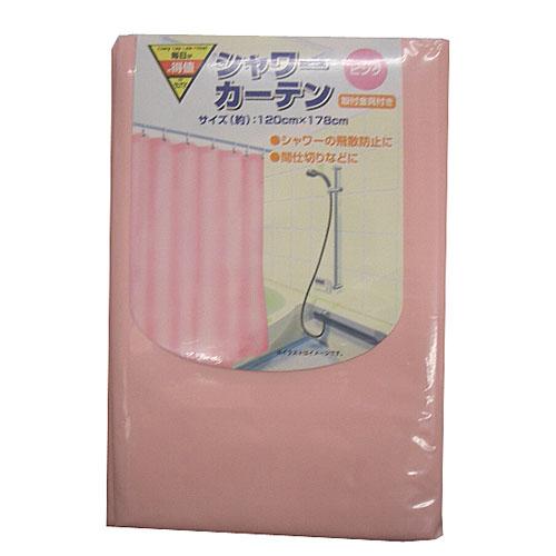 コーナン オリジナル シャワーカーテン ピンク KOH06−3446