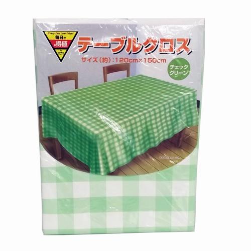 コーナン オリジナル テーブルクロスチェック グリーン KOH06−3477