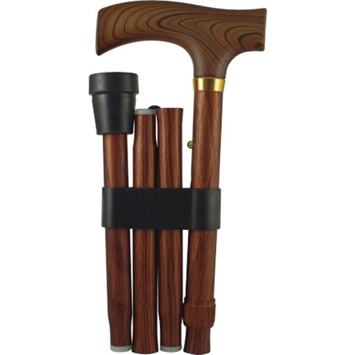 コーナン オリジナル 折りたたみ杖 木目 KYK19−1977