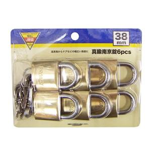 コーナン オリジナル 真鍮南京錠 6PCS 38mm EKM03‐6286