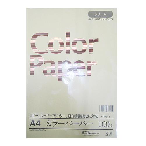 コーナン オリジナル A4カラーペーパー100枚 CPY011