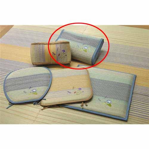 コーナン オリジナル い草低反発枕 秋月 ブルー 約44×29×10cm