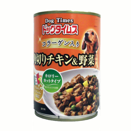 コーナン オリジナル ドッグタイムス缶 角切りチキン&野菜 400g