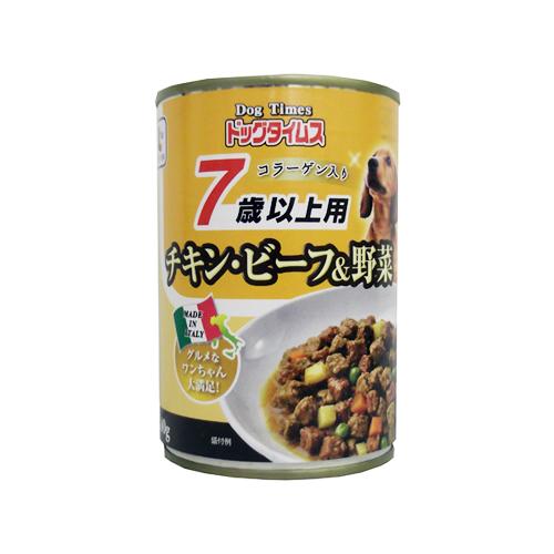 コーナン オリジナル ドッグタイムス缶 7歳以上用 チキン・ビーフ&野菜 400g
