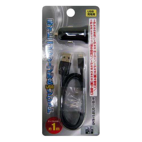 コーナン オリジナル ライトニングケーブル&USBソケット KFJ07−9347