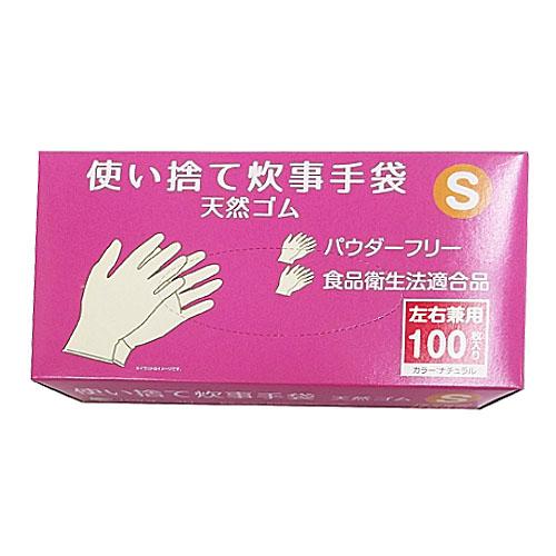 コーナン オリジナル 使い捨て 炊事手袋 天然ゴム 100枚入り S