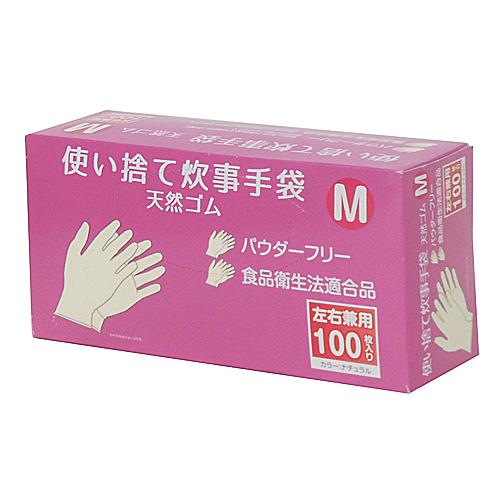 コーナン オリジナル 使い捨て 炊事手袋 天然ゴム 100枚入り M KFY05−1128