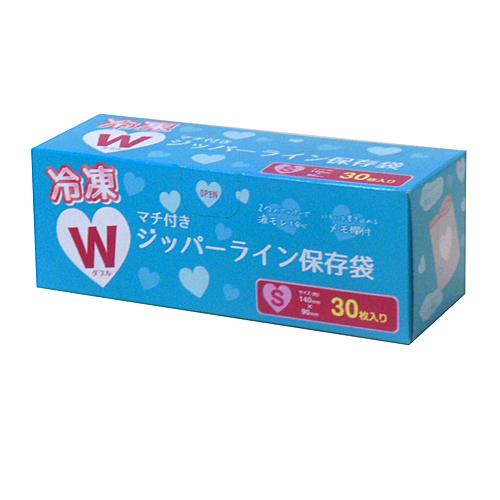 コーナン オリジナル 冷凍ダブルジッパー ラインマチ付保存袋S 30枚入 KFY05−1197