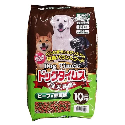 コーナン オリジナル ドッグタイムス 10kg ビーフ&野菜味 全犬種用