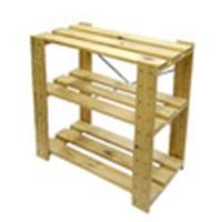 コーナン オリジナル 木製ラック3段(無塗装)WR1  約W60×D33×H60cm ※お客さま組立品