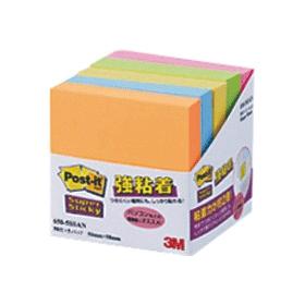 強粘着ノート 50X50 650−5SSAN 蛍光5色 5冊