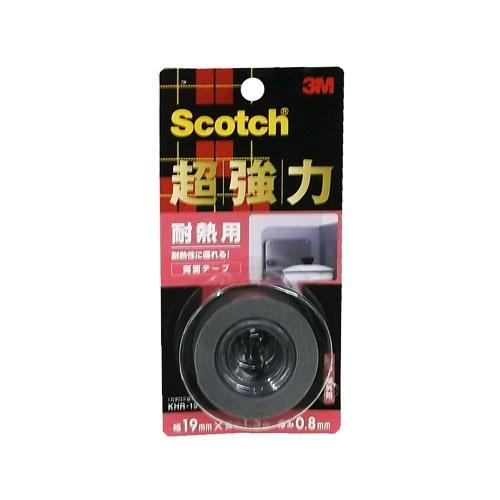 Scotch 超強力両面テープ耐熱用 厚み0.8mm×幅19mm×長さ1.5m