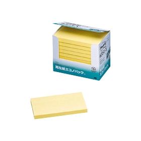 再生紙エコノパックノート 75×127mm イエロー 10冊 335340