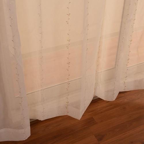 レースカーテン ブルネラ 2枚組 幅100×高さ198cm ベージュ