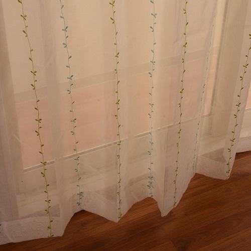 レースカーテン ブルネラ 2枚組 幅100×高さ133cm ブルー