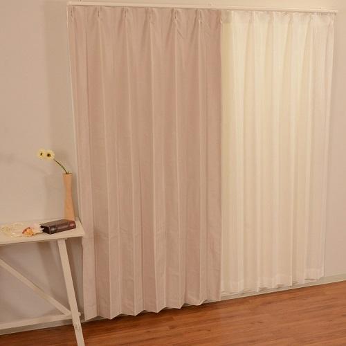 厚地カーテン セレスト 2枚組 幅100×高さ200cm アイボリー