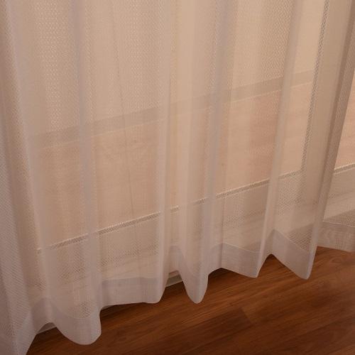 レースカーテン クリア 2枚組 幅100×高さ198cm ホワイト