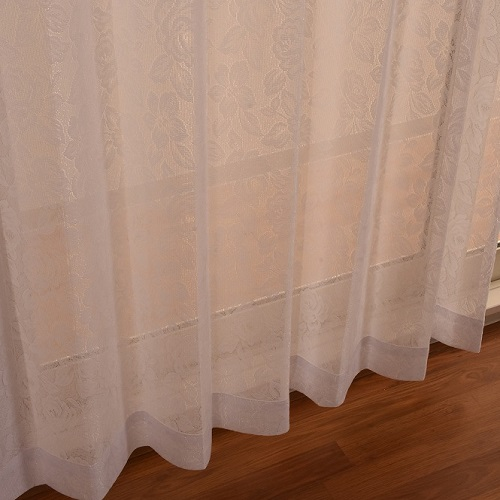 レースカーテン メタリナ 2枚組 幅100×高さ198cm ホワイト