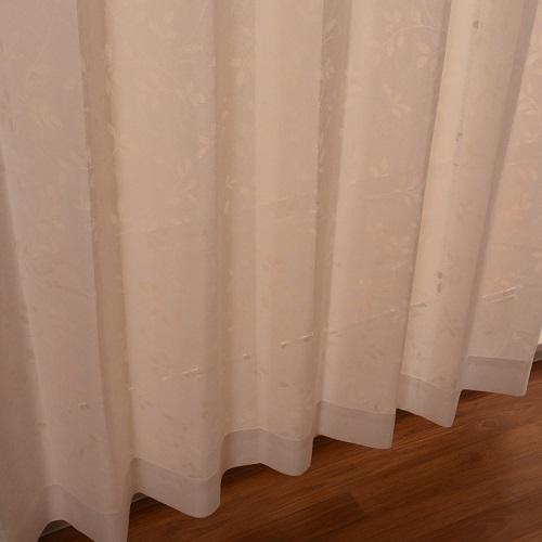 レースカーテン イーリアス 1枚 幅150×高さ176cm ホワイト