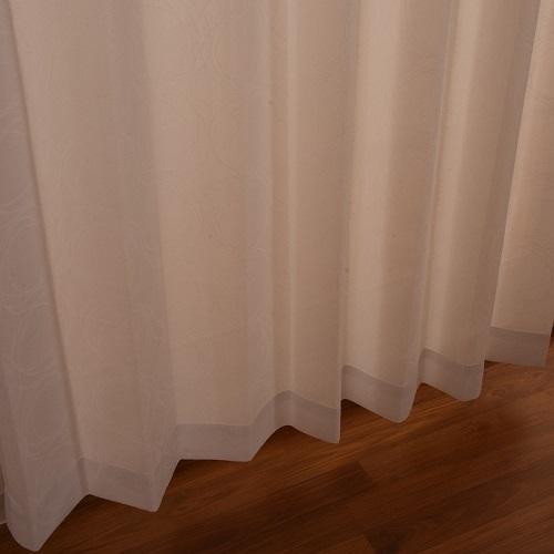レースカーテン フロストレース 2枚組 幅100×高さ133cm ホワイト