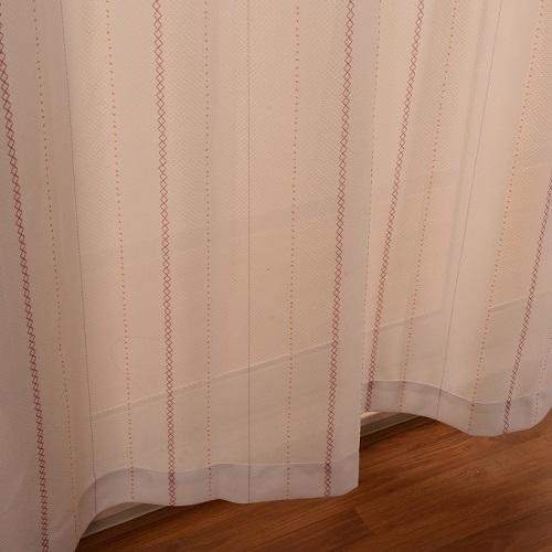 レースカーテン レイク 2枚組 幅100×高さ133cm ピンク