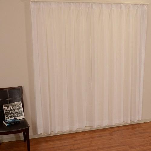 レースカーテン セラーノレース 2枚組 幅100×高さ133cm ホワイト