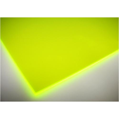 アクリル板 蛍光黄緑 約320×550×2mm S−2