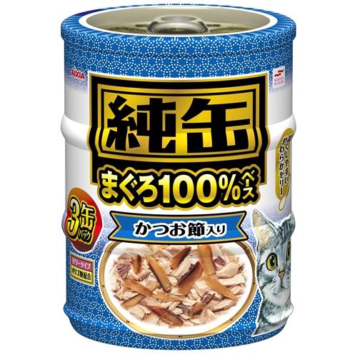 アイシア 純缶ミニ3P かつお節入りまぐろ65g×3缶