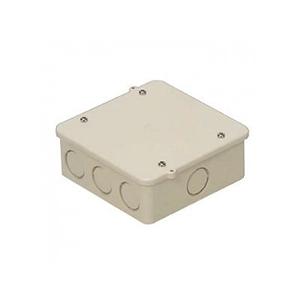 未来工業 PVKボックス(中形四角浅型・ノック付)ベージュ PVK-ANJ