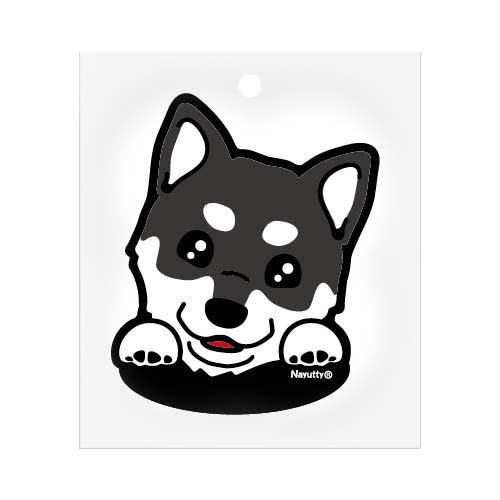 ステッカー 柴犬 黒