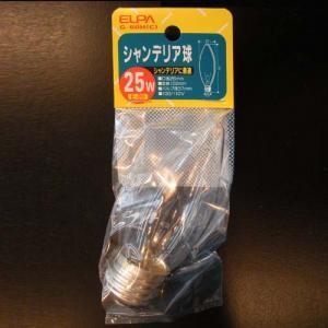 シャンデリア球25W E26 クリア G−60H(C)