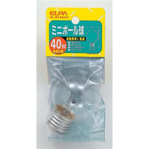 ミニボール球 40W G−81H(C) E26