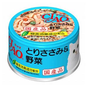 いなばペットフード CIAO ホワイティ とりささみ&野菜 85g C−11